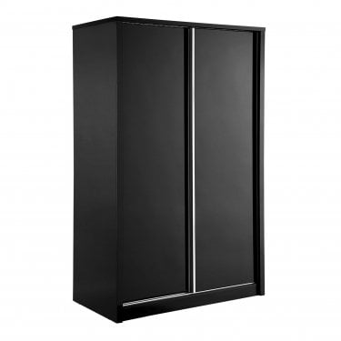 Novello High Gloss Black 2 Door Sliding Wardrobe