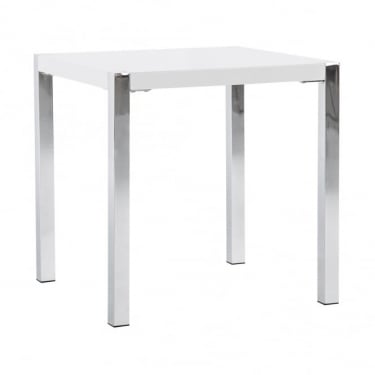 Novello High Gloss White End Table