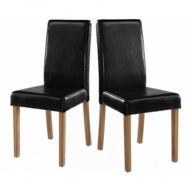 Oakridge Black Dining Chair Pair