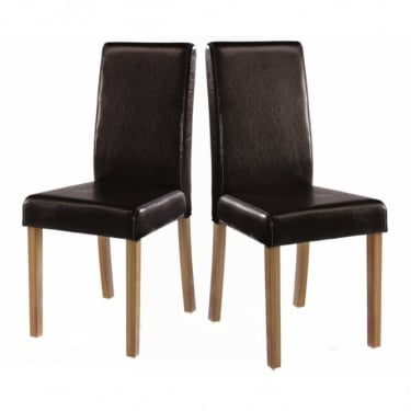 Oakridge Brown Dining Chair Pair