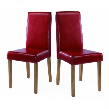 Oakridge Red Dining Chair Pair