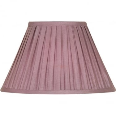 "Oaks Lighting Box Pleat 12"" Grape Silk Fabric Shade"