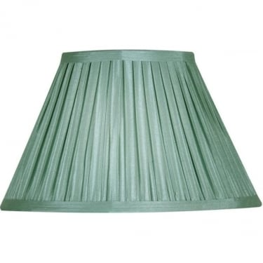 "Oaks Lighting Box Pleat 12"" Sage Silk Fabric Shade"