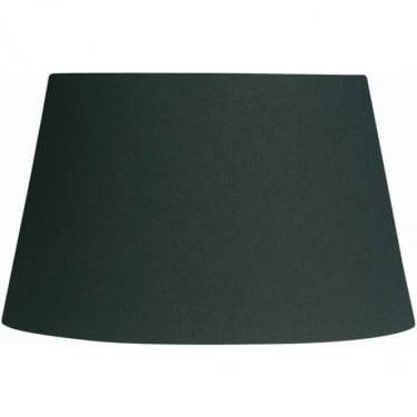 Oaks Lighting Cotton Drum Black Fabric Shade