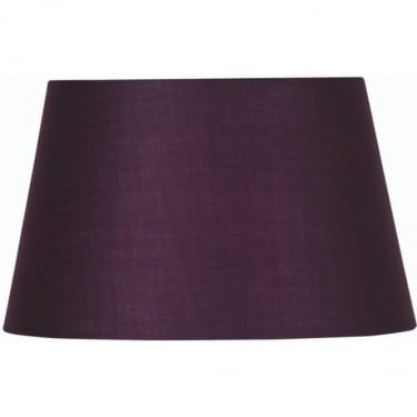 Oaks Lighting Cotton Drum Plum Fabric Shade