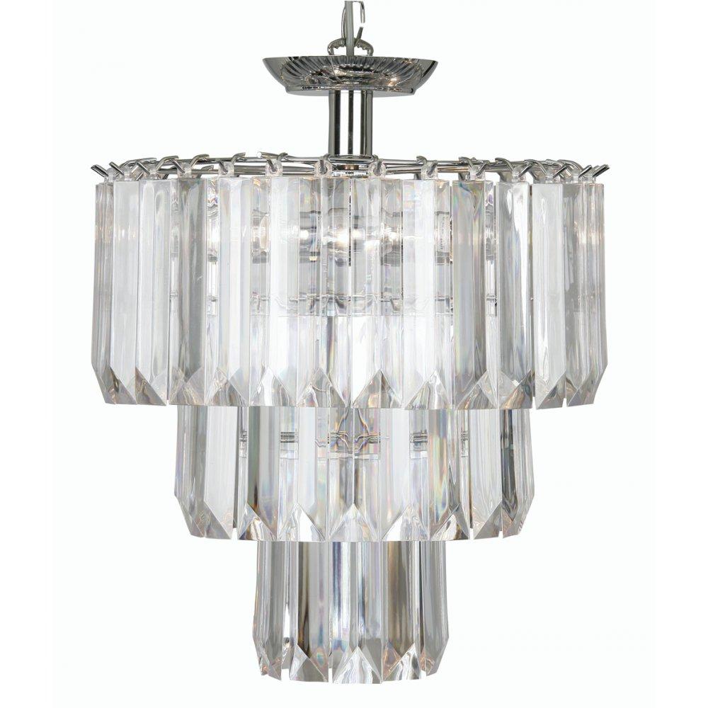 oaks lighting decorative acrylic polished chrome 4 light