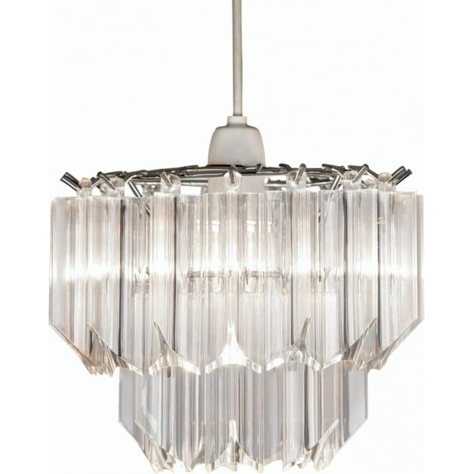 Decorative Non Electric Wall Sconces : Oaks Lighting Decorative Acrylic Polished Chrome Small Non-Electric Pendant Shade Leader Stores