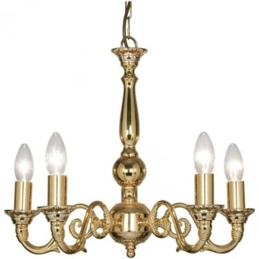 Oaks Lighting Decorative Amaro Gold Plated Ceiling Light