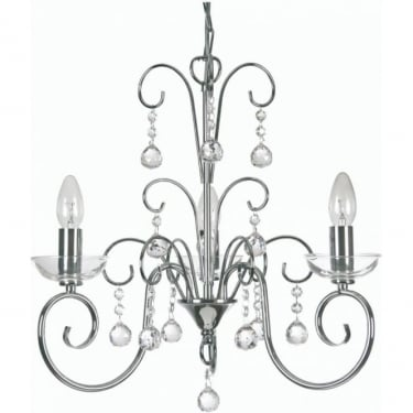 Oaks Lighting Decorative Atanea Chrome Pendant Light