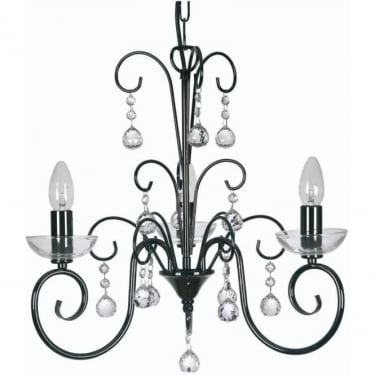 Oaks Lighting Decorative Atanea Mirror Black Pendant Light