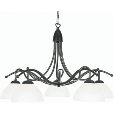 Oaks Lighting Decorative Country Black Gold Ceiling Light