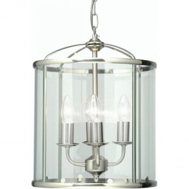 Oaks Lighting Decorative Fern Antique Chrome 4Lt Indoor Hanging Lantern with Clear Glass (351/4 AC)