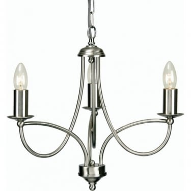 Oaks Lighting Decorative Loop Antique Chrome Ceiling 3 Light