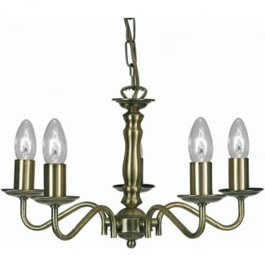 Oaks Lighting Decorative Nador Antique Brass Ceiling Light