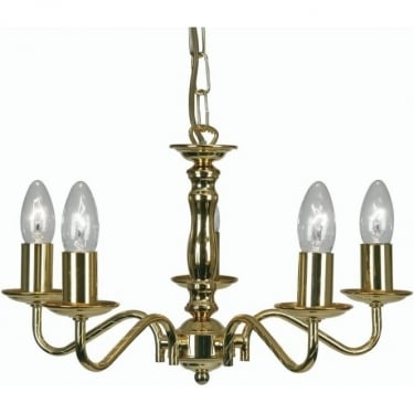 Oaks Lighting Decorative Nador Gold Plated Ceiling Light