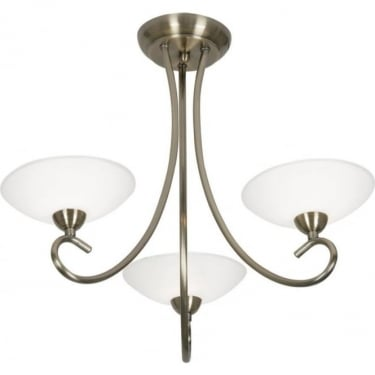 Oaks Lighting Decorative Satyana Antique Brass Pendant Light
