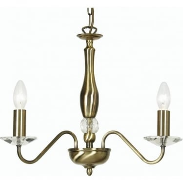 Oaks Lighting Decorative Vesta Antique Brass Pendant Light