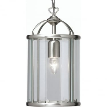 Oaks Lighting Fern Antique Chrome 1Lt Indoor Pendant Light with Clear Glass (351/1 AC)
