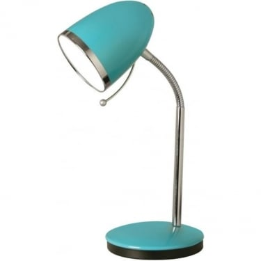 Oaks Lighting Madison Pale Blue Indoor Table Lamp (2819 TL BL)