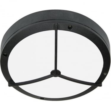 Oaks Lighting Marton Black Outdoor Flush Light