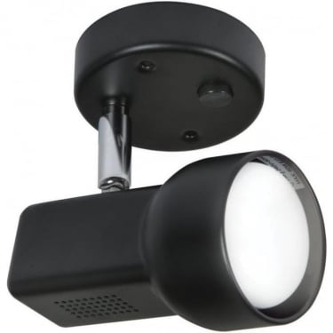 Oaks Lighting Quattro 63 Black Switched Single Spotlight