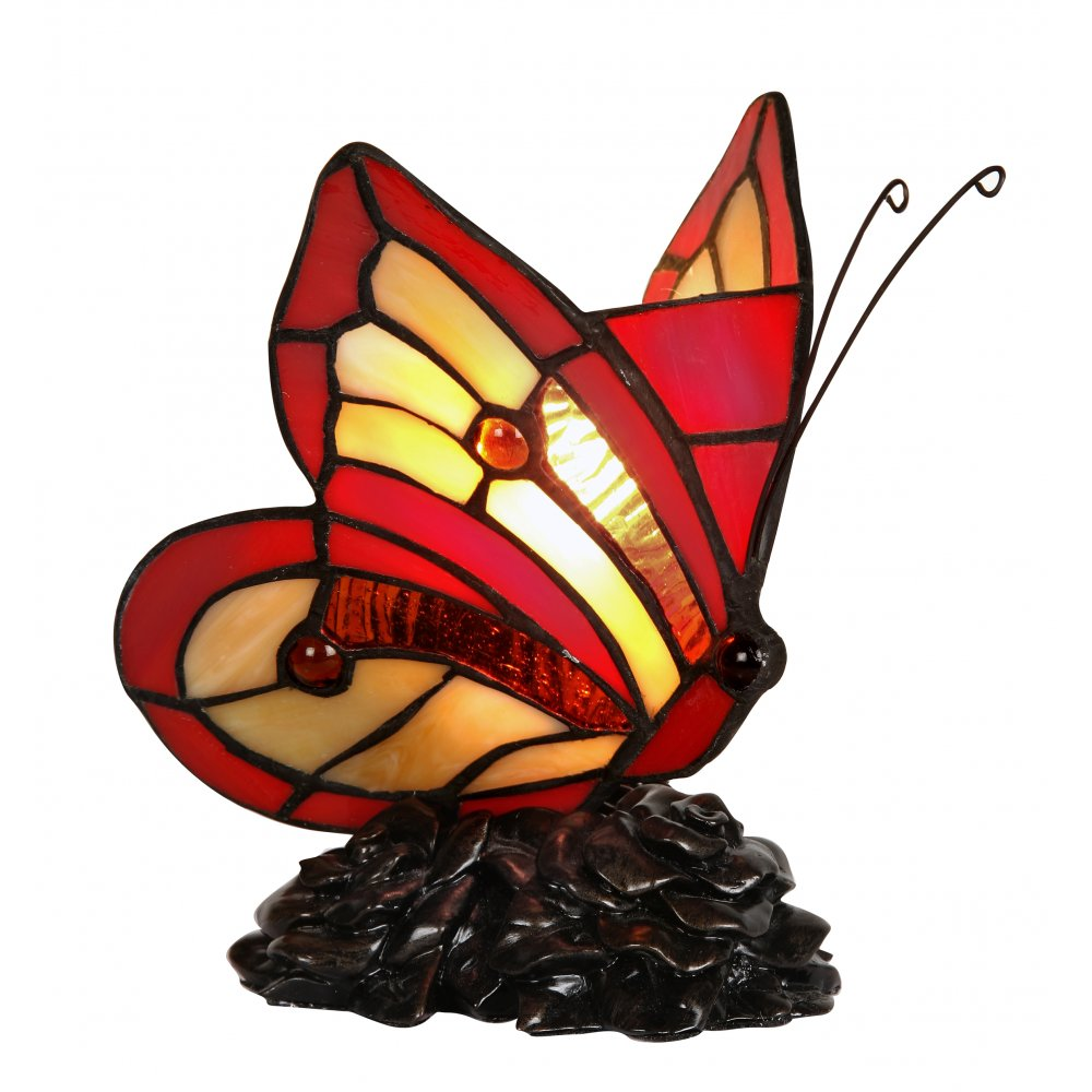 lighting oaks lighting tiffany butterfly stained glass animal lamp. Black Bedroom Furniture Sets. Home Design Ideas