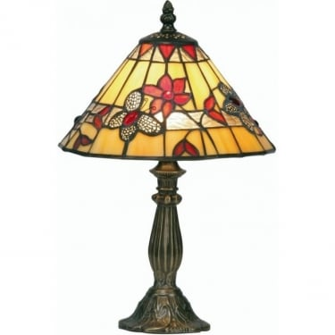 Oaks Lighting Tiffany Butterfly Stained Glass Table Lamp OT2612/9