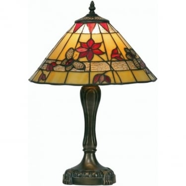 Oaks Lighting Tiffany Butterfly Stained Glass Table Lamp