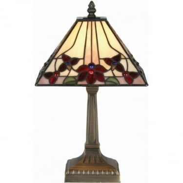 Oaks Lighting Tiffany Camillo Stained Glass Table Lamp OT3589/9