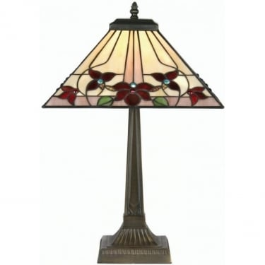 Oaks Lighting Tiffany Camillo Stained Glass Table Lamp