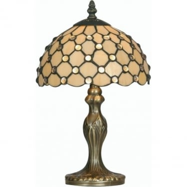 Oaks Lighting Tiffany Jewel Stained Glass Table Lamp OT1562/8