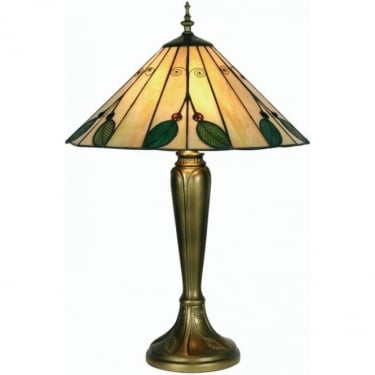 Oaks Lighting Tiffany Leaf Stained Glass Table Lamp OT3020/16TL