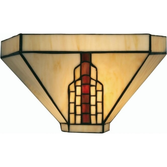 Tiffany Glass Wall Lights : Oaks Lighting Tiffany Viola Stained Glass Wall Light Leader Stores
