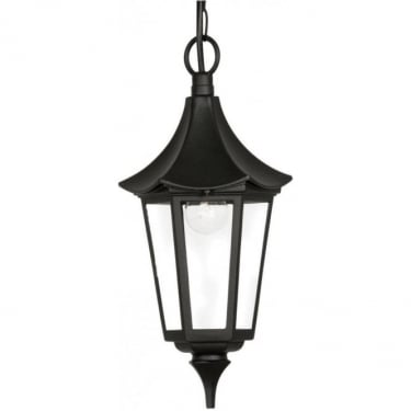 Oaks Lighting Witton Black Outdoor Lantern