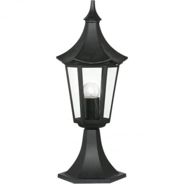 Oaks Lighting Witton Black Outdoor Pedestal Light