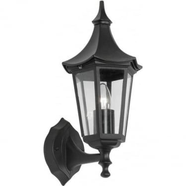Oaks Lighting Witton Black Outdoor Upward Lantern