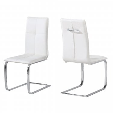 Opus White Dining Chair Pair