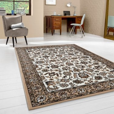 Ornate Beige Pattern Rug 225x160cm (12002-650-160225)