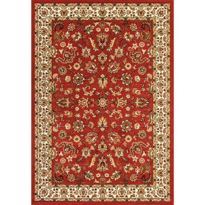 Ornate Red Floral Pattern Rug 225x160cm (12002-011-160225)