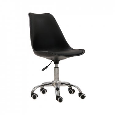 Orsen Office Chair, Black & Faux Leather