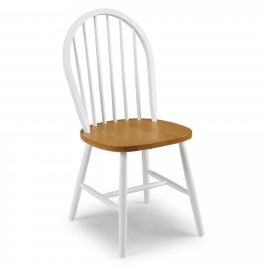 Oslo White & Oak Dining Chair