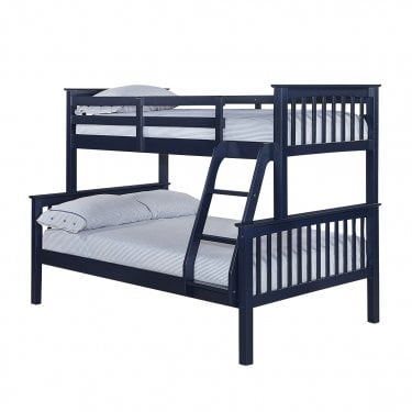 Otto Navy Blue 4'0 Trio Bunk Bed Pair