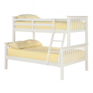 Otto Off White 4'0 Trio Bunk Bed Pair