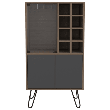 Ova 2 Door Wine Cabinet, Bleached Oak