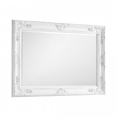 Palais Wide Wall Mirror, Eggshell White
