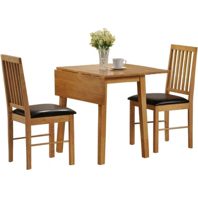 lpd furniture palma oak drop leaf dining set leader stores