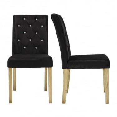 Paris Black Dining Chair Pair