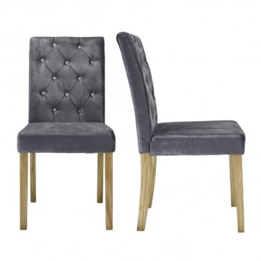 Paris Silver Dining Chair Pair