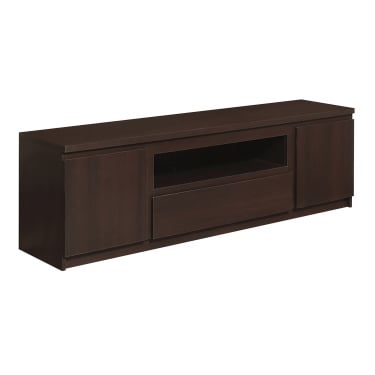 Pello Dark Mahogany 1 Drawer 2 Door Wide TV Unit