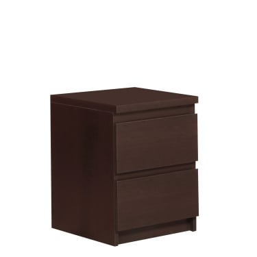 Furniture To Go Pello Dark Mahogany 2 Drawer Bedside Cabinet (4149543P)